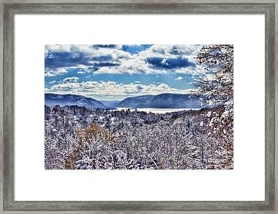 Hudson Valley First Snow Mystic Colors Framed Print