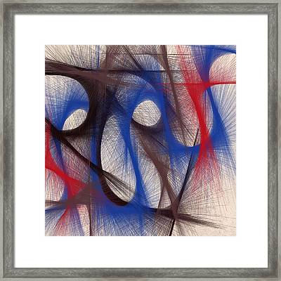 Hues Of Blue Framed Print by Marian Palucci-Lonzetta