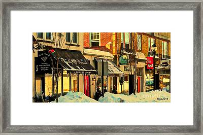 Hues On The Rue Framed Print