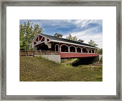 Hueston Woods Covered Bridge Framed Print