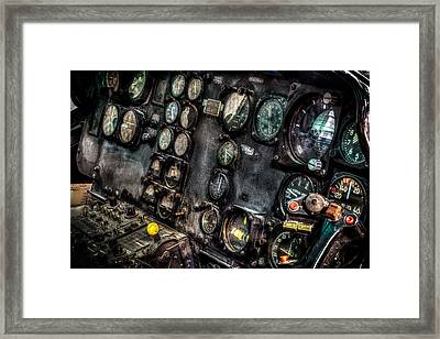 Huey Instrument Panel 2 Framed Print by David Morefield