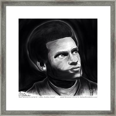 Huey P. Newton Of The Black Panther Party Framed Print
