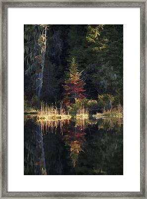 Huff Lake Reflection Framed Print