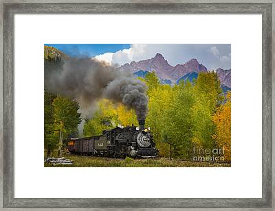 Huffing And Puffing Framed Print by Inge Johnsson