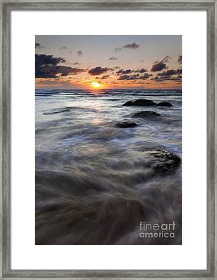 Hug Point Tides Swirl Framed Print by Mike  Dawson