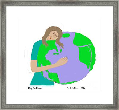 Hug The Planet Framed Print