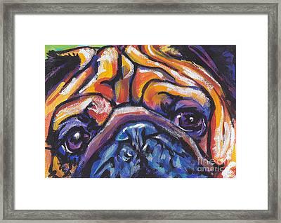 Hug The Pug Framed Print by Lea S