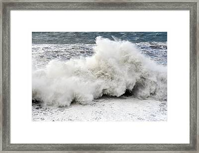 Huge Wave Framed Print