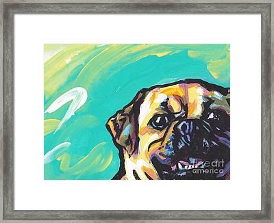 Huggle A Puggle Framed Print by Lea S