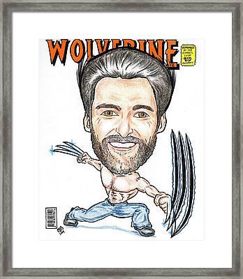 Hugh Jackman - Wolverine Framed Print