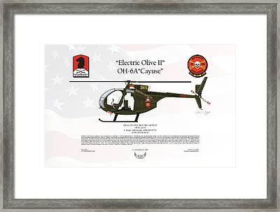 Hughes Oh-6a Cayuse Electric Olive II Framed Print