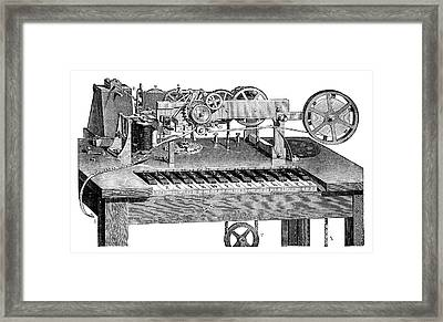 Hughes Printing Telegraph Framed Print by Science Photo Library