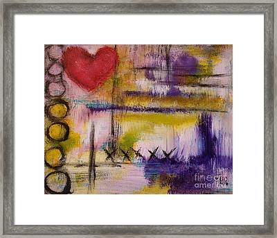 Hugs And Kisses Framed Print by Jane Chesnut