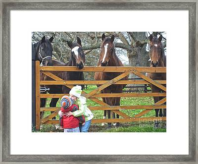 Framed Print featuring the photograph Hugs And Kisses by Suzanne Oesterling