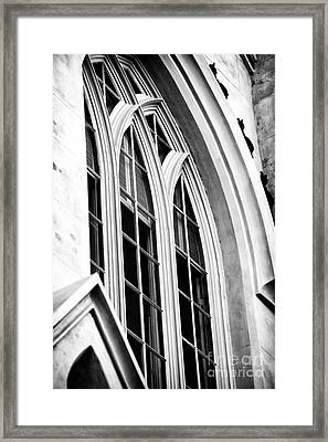 Huguenot Window Framed Print by John Rizzuto