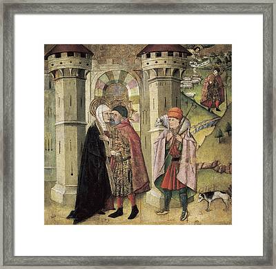 Huguet, Jaume 1415-1492. Saint Joachim Framed Print by Everett