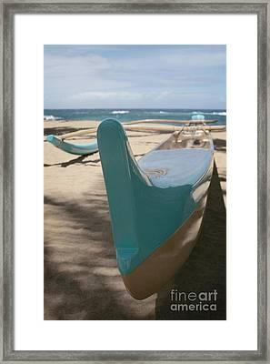 hui o waa Kuau Outrigger Canoe Paia Framed Print by Sharon Mau