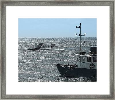 Huki Nui Ship And Atlantis Submarine Framed Print