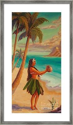 Hula Aloha Framed Print