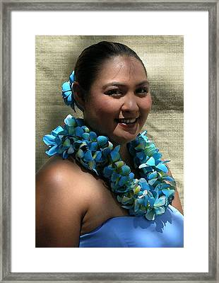 Hula Blue Framed Print by James Temple