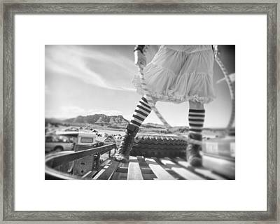 Hula Hoop Framed Print