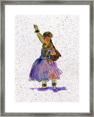 Hula Series Konani Framed Print