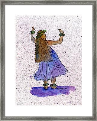 Hula Series Malia Framed Print by Diane Thornton