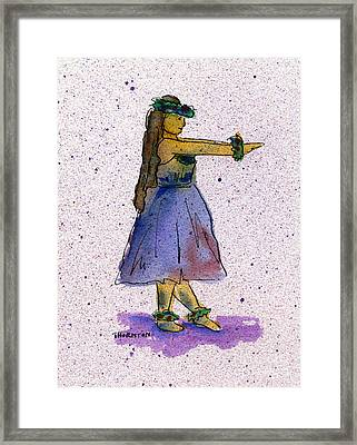 Hula Series Nakine Framed Print