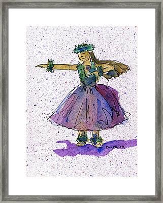 Hula Series Olina Framed Print