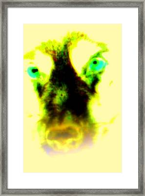 The Green-eyed Hulders Wolf Framed Print
