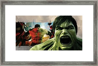 Hulk Artwork Framed Print by Sheraz A