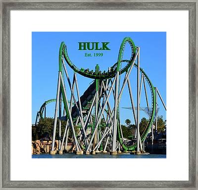 Hulk Coaster 1999 Framed Print