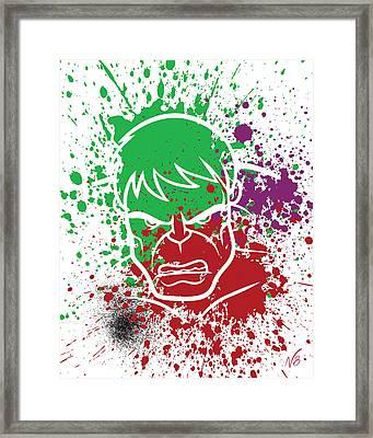 Hulk Goes Splat Framed Print by Decorative Arts