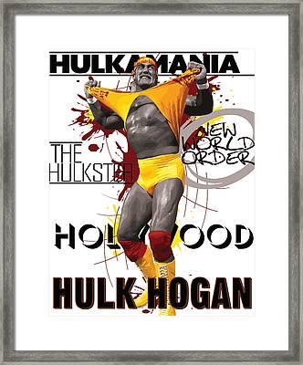 Hulk Hogan Framed Print by Anibal Diaz