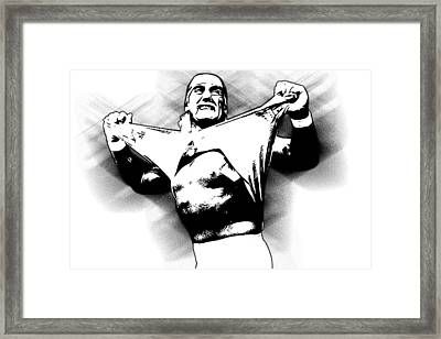 Hulk Hogan By Gbs Framed Print by Anibal Diaz