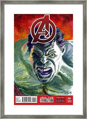 Hulk Framed Print by Ken Meyer jr