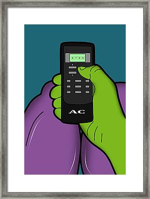 Hulk Framed Print by Mark Ashkenazi
