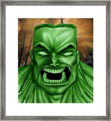 Hulk Framed Print by Michael Mestas