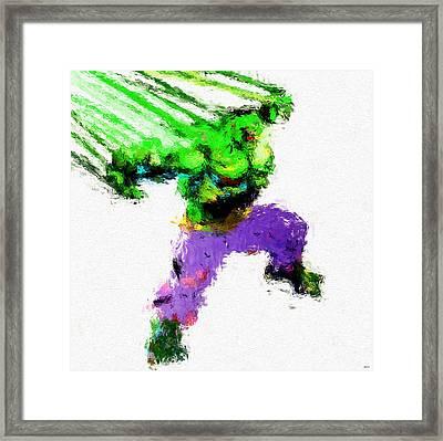 Hulk Painting Framed Print by Daniel Janda
