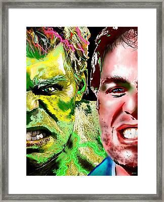Hulk Vs Bruce Banner Framed Print by Daniel Janda