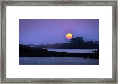 Hull Of A Sunrise Framed Print