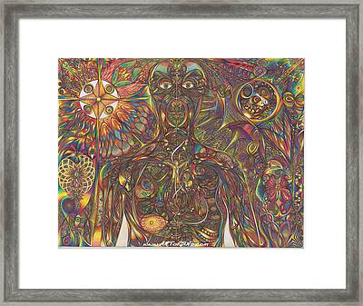 Human Beying Framed Print by diNo