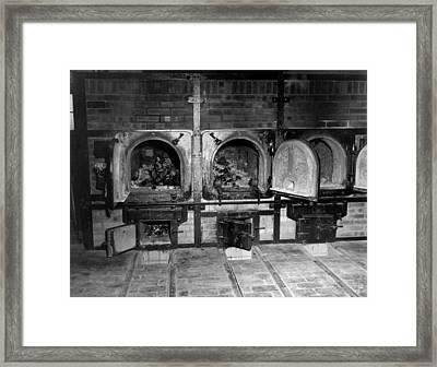 Human Bones In The Crematorium Framed Print