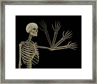 Human Elbow Joint Framed Print by Mikkel Juul Jensen