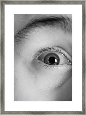 Human Eye, Infrared Image Framed Print by Science Photo Library