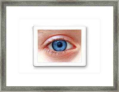 Human Eye Framed Print by Victor De Schwanberg