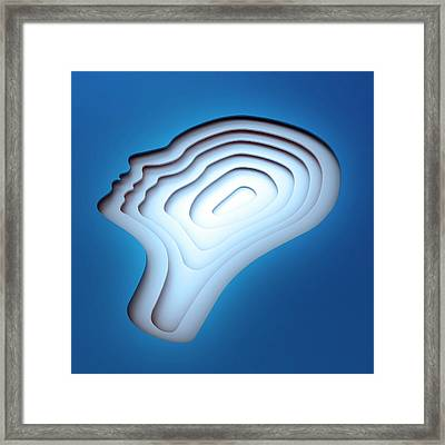 Human Head Framed Print