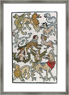 Human Monsters 1493 Framed Print