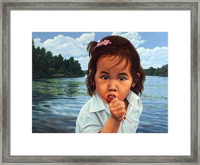 Human-nature 48 Framed Print by James W Johnson