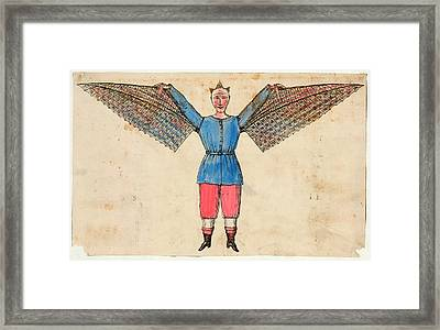 Human Ornithopter Framed Print by Library Of Congress